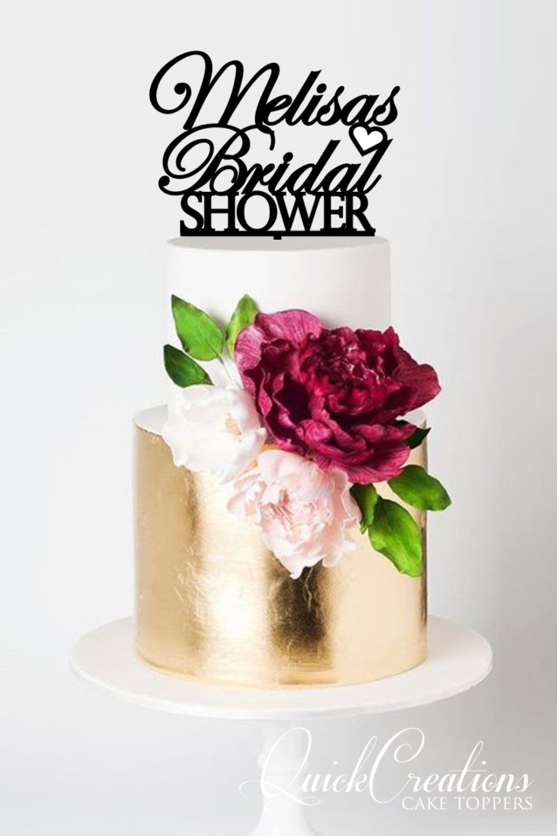 Quick Creations Cake Topper - Melisa's Bridal Shower
