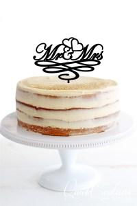 Quick Creations Cake Topper - Mr & Mrs Hearts Swirls