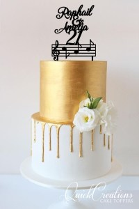Quick Creations Cake Topper - Names & Music Notes