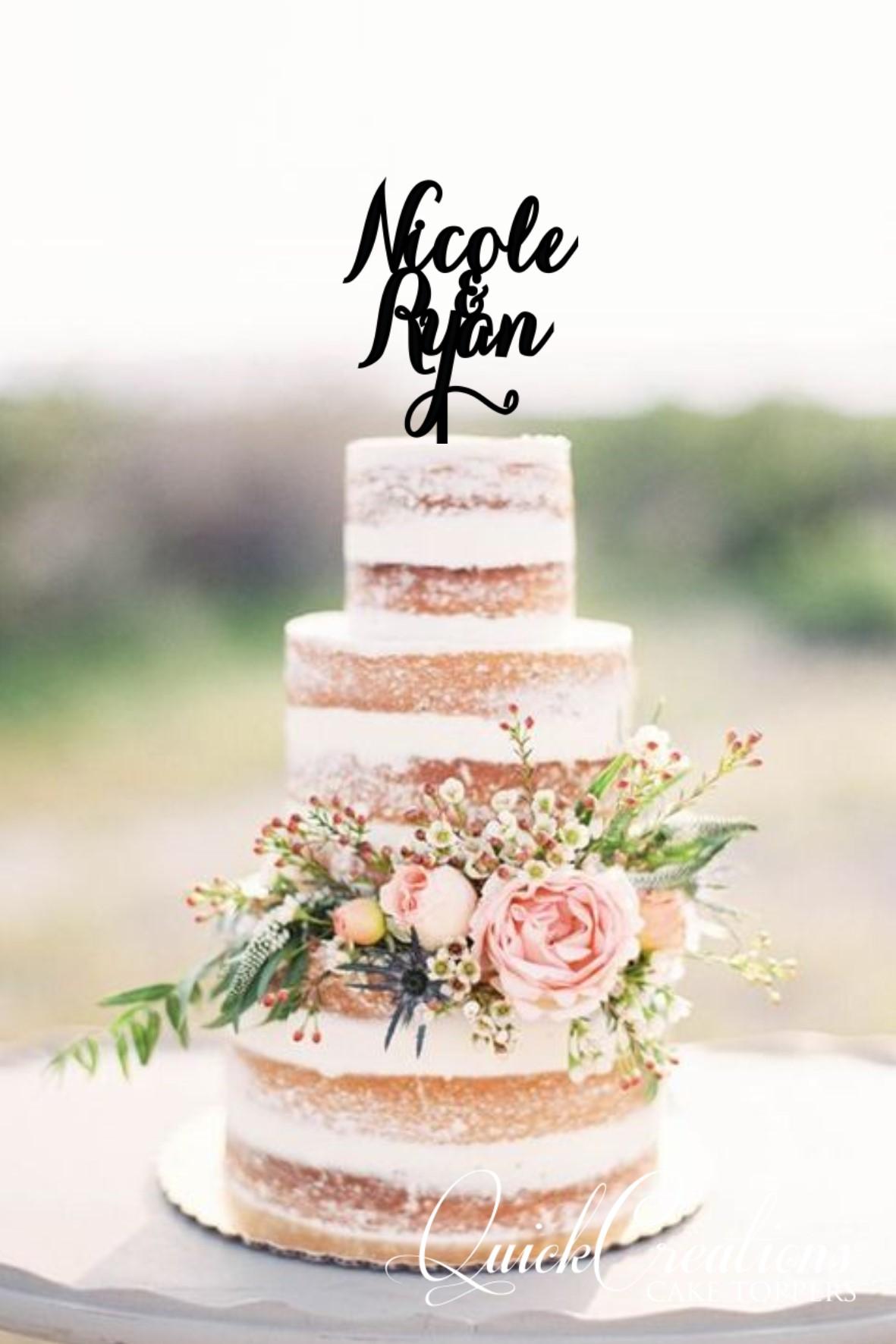 Quick Creations Cake Topper - Nicole & Ryan