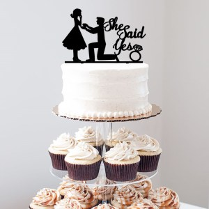 Proposal Image She Said Yes Cake Topper