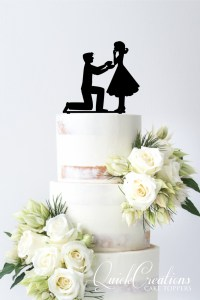 Quick Creations Cake Topper - Proposal Image