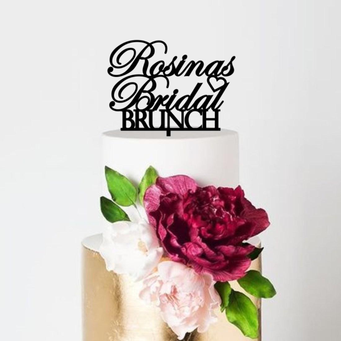 Personalised Bridal Brunch Cake Topper