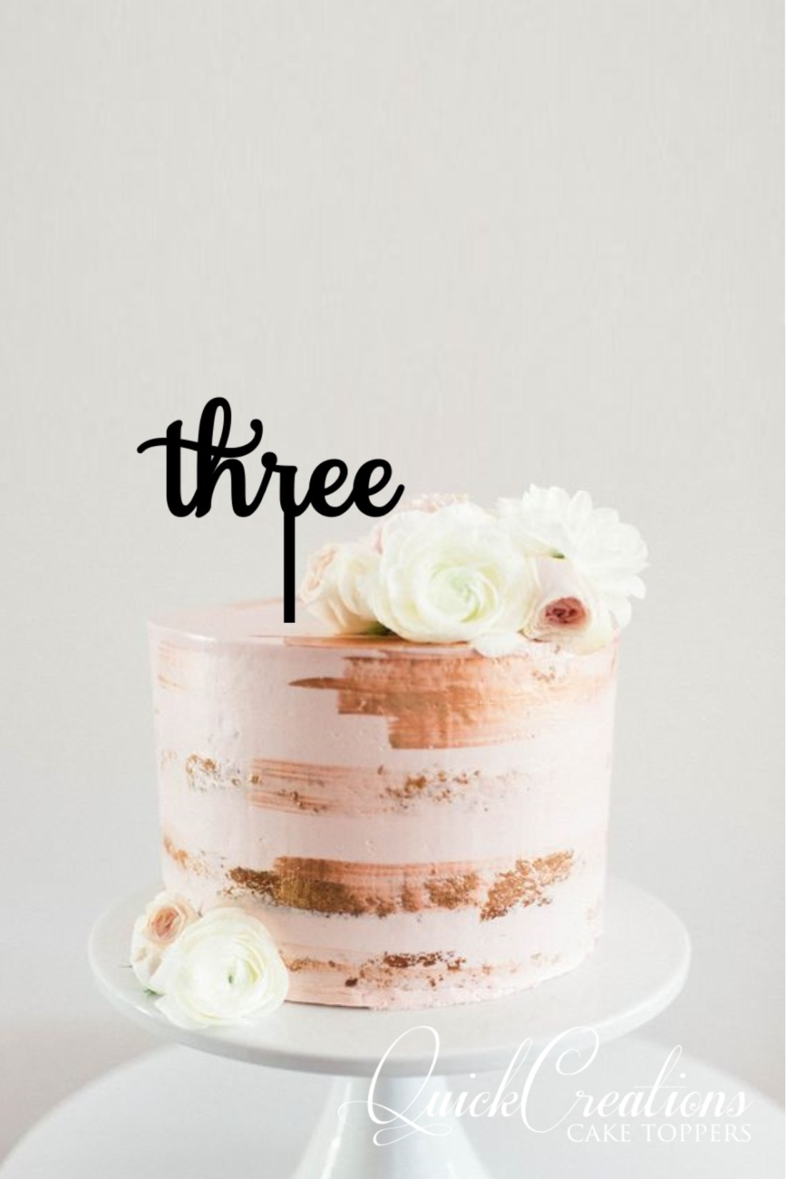 Quick Creations Cake Topper - Three