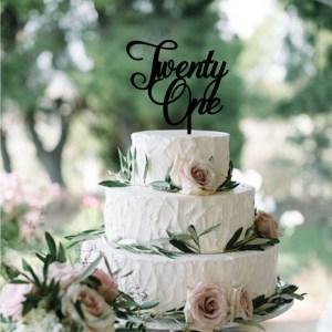 Quick Creations Cake Topper - Twenty One v2