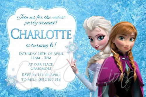 Childrens Birthday Invitations Frozen Birthday Invitation