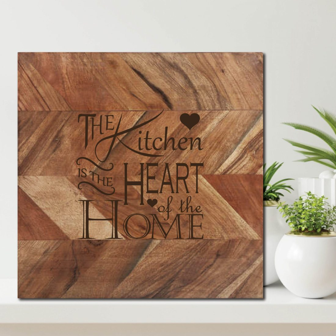 The Kitchen is the Heart of the Home Chopping Board