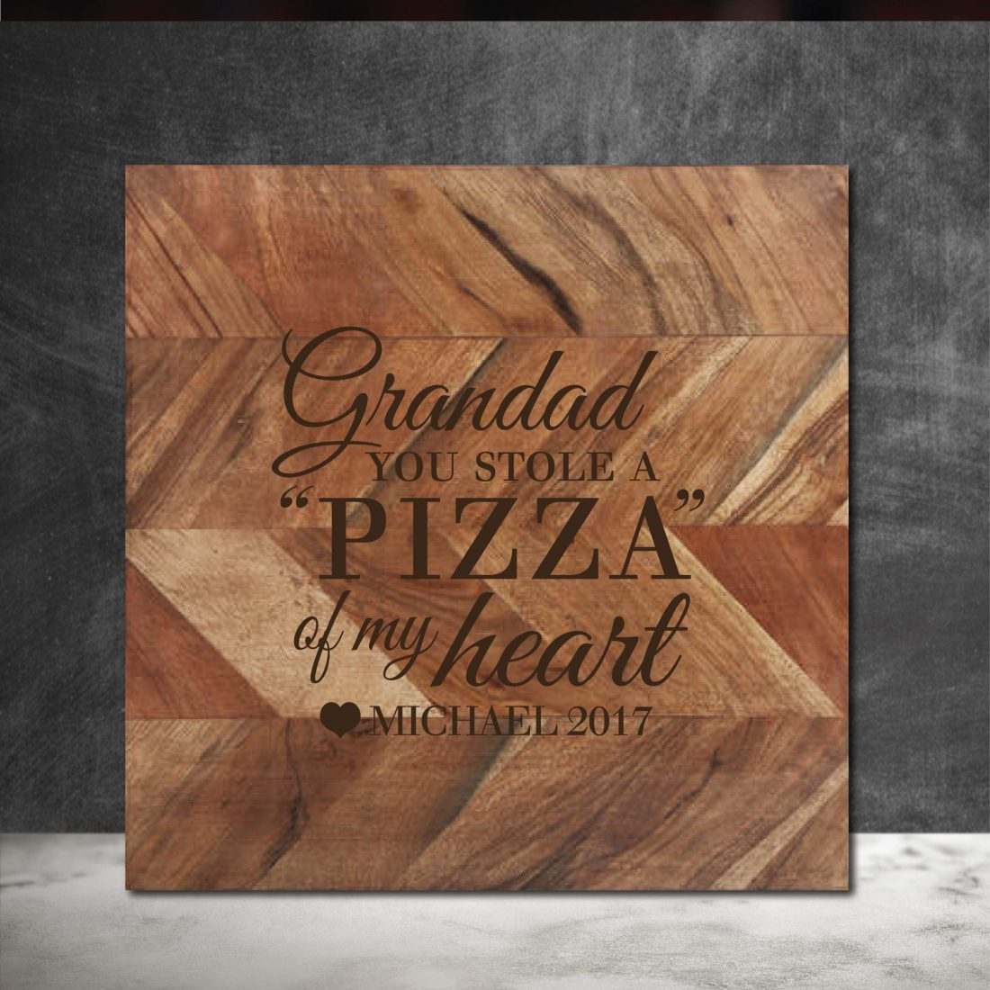 Grandad you stole a Pizza my Heart Chopping Board