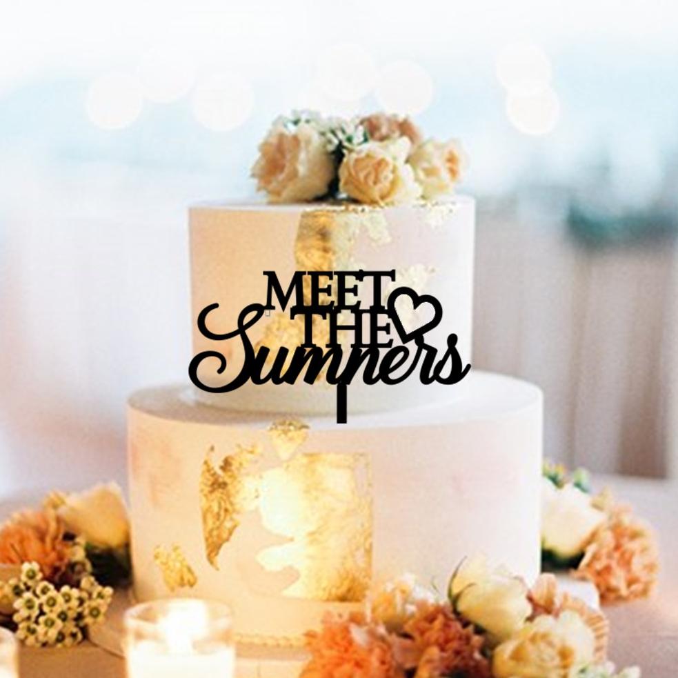 Meet the Names Cake Topper