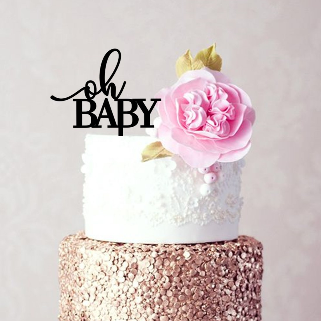 oh BABY CAPITALS Cake Topper
