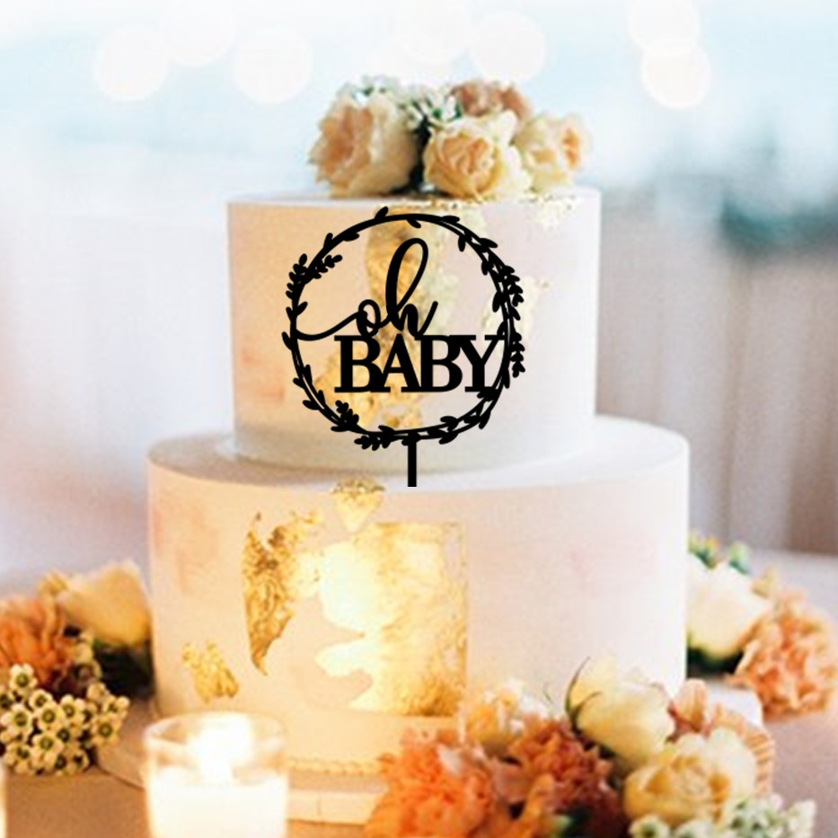 oh BABY Wreath Cake Topper