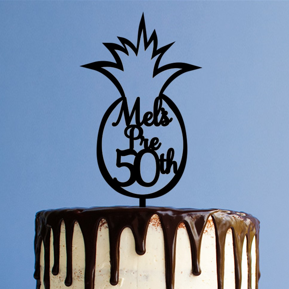 Personalised Pineapple 50th Cake Topper