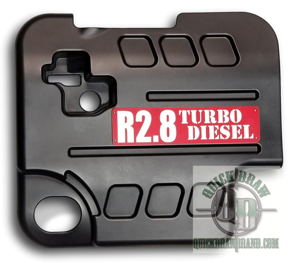 Cummins r2.8 engine cover red white letters