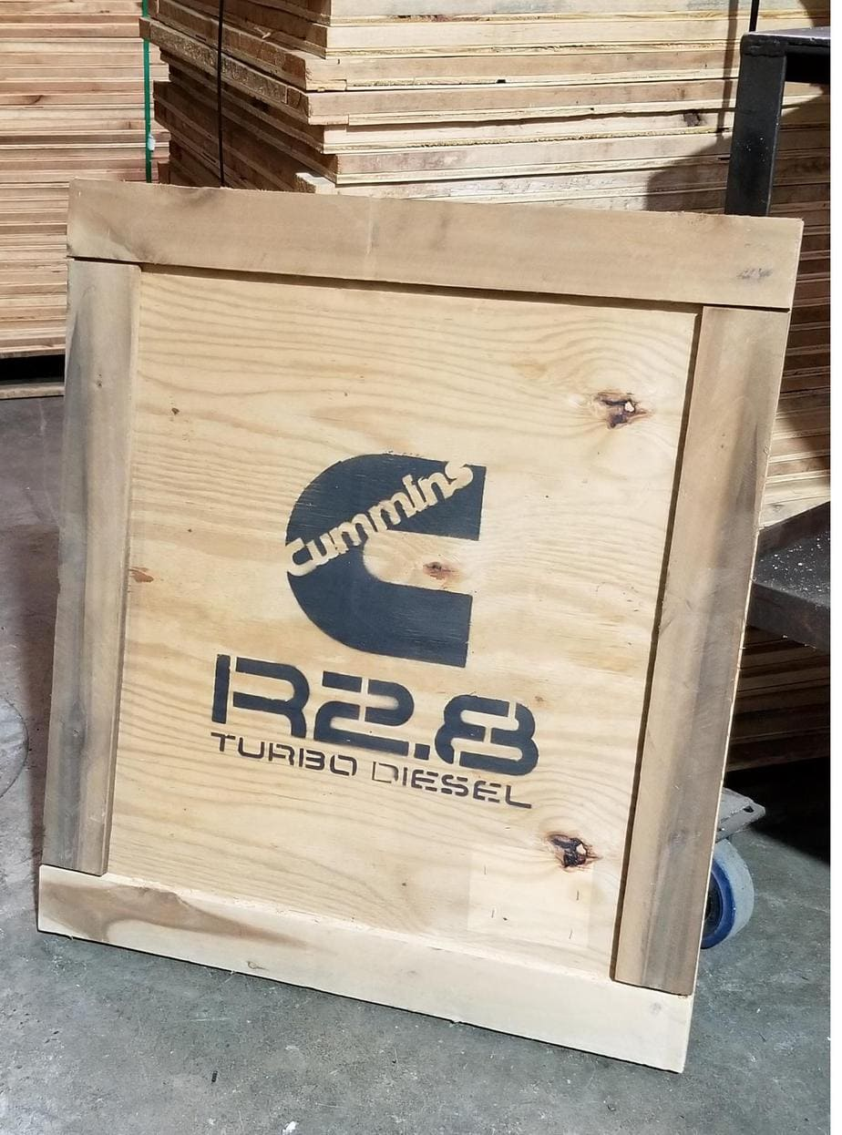Cummins R2.8 wooden crate panel