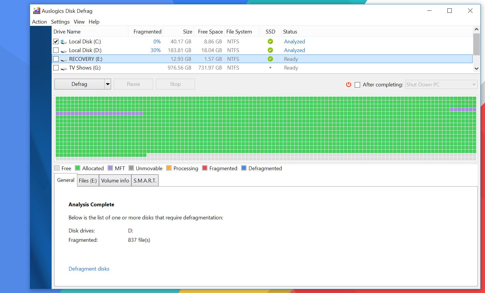 best disk defragmenter, disc defragment tool