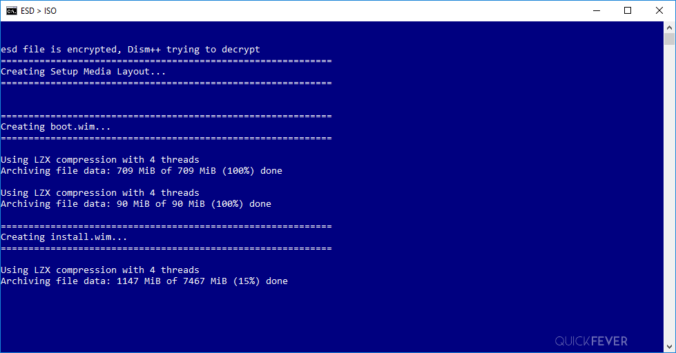 extracting esd into iso, windows 10 insider preview