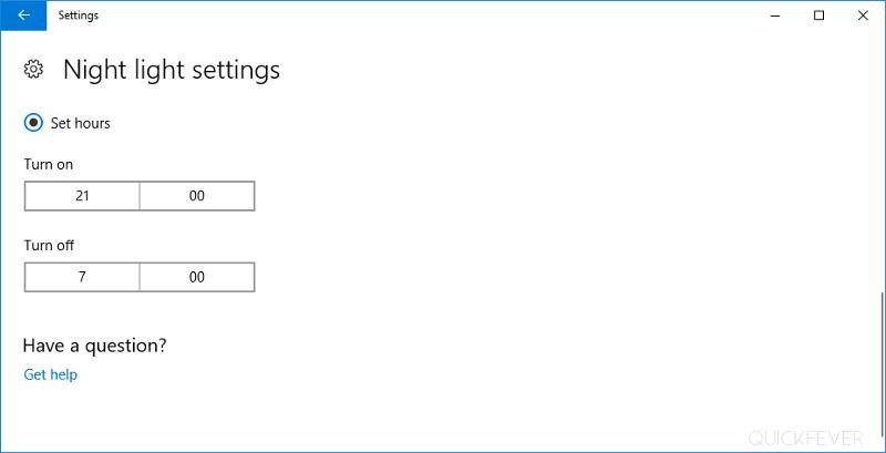 Fix night light mode in Windows 10