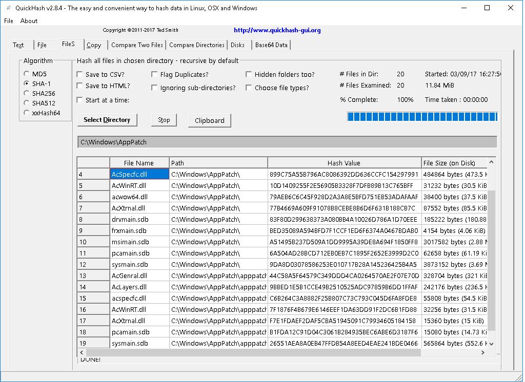 QuickHash-FileSTab