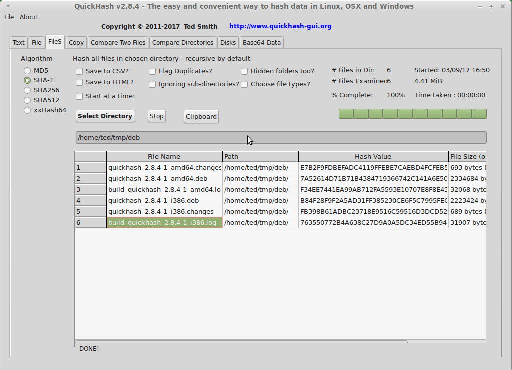 QuickHash-Linux-FileSTab