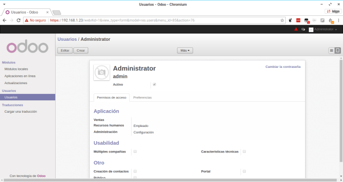Install modules in Odoo