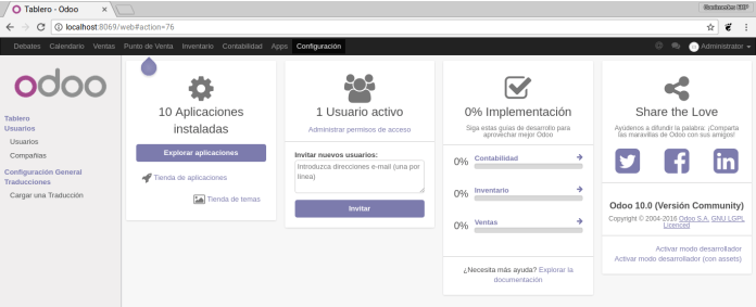 install Odoo with docker