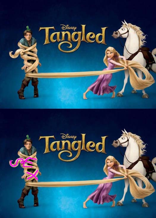 sex written on rope in disneys tangled subliminal