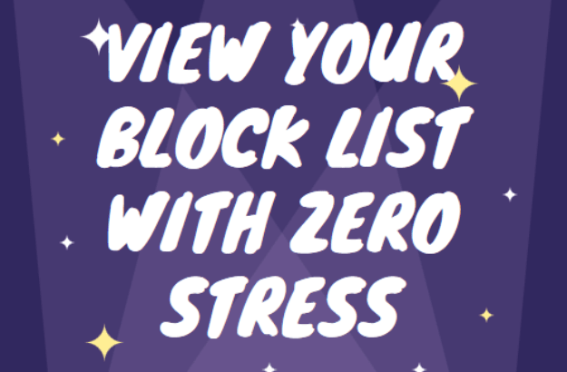 View your block list on Facebook with zero stress