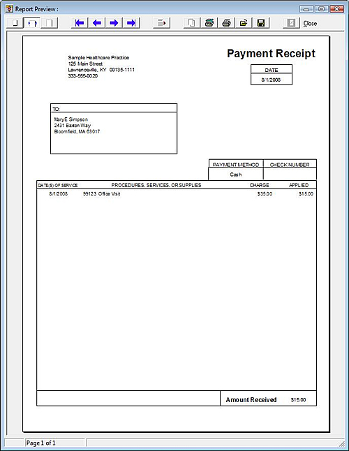 Pay Receipt Template payment receipts form a to z free printable – Pay Receipt Form