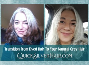 How Do You Transition from Dyed Hair To Your Natural Grey Hair featured image of Bek