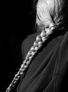 image of a long silver braid