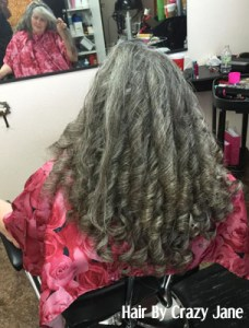 Image of woman with silver ringlets