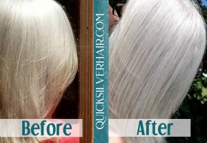 Before and After QuickSilverHair Katherine W Collage