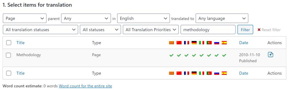 WPML how to obtain wordcounts