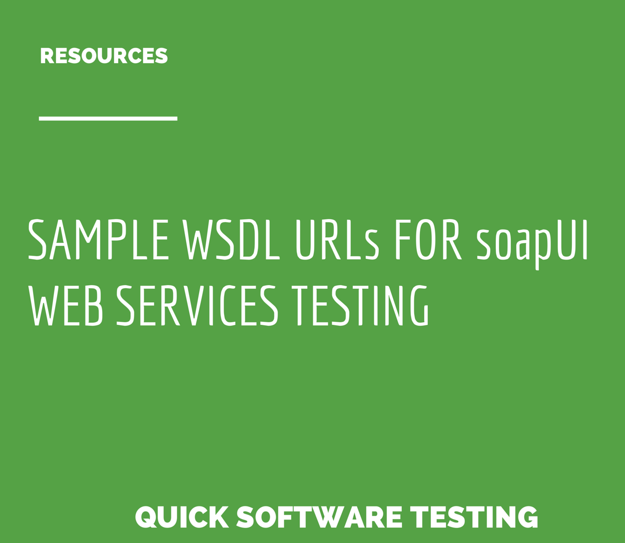 Sample WSDL URLs for soapUI Web Services Testing