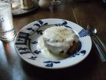 Bread pudding with vanilla custard