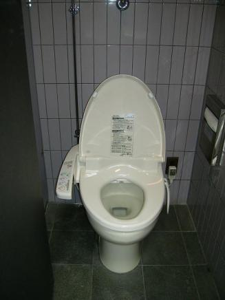 Heated Western-style toilet seat!