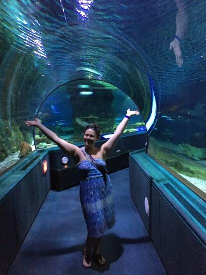 Aquarium tunnel!
