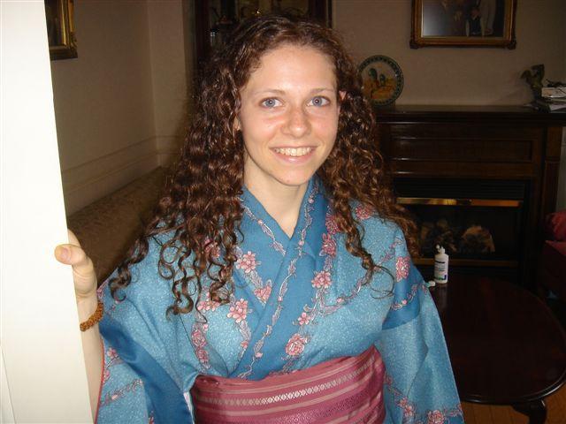 Mr. Fujita's kimono she let me have!