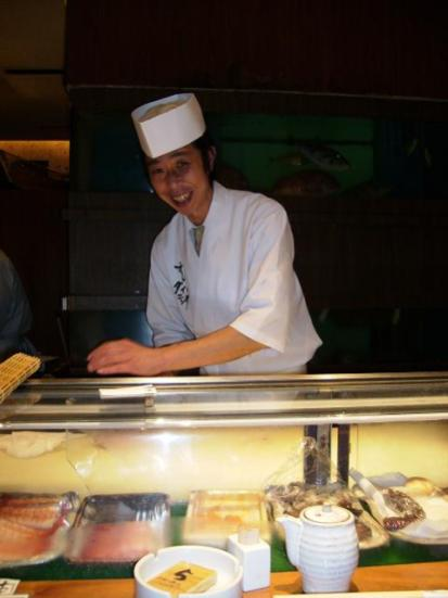 The sushi chef!