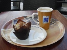 Muffin and coffee