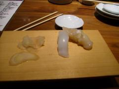 squid and scallop