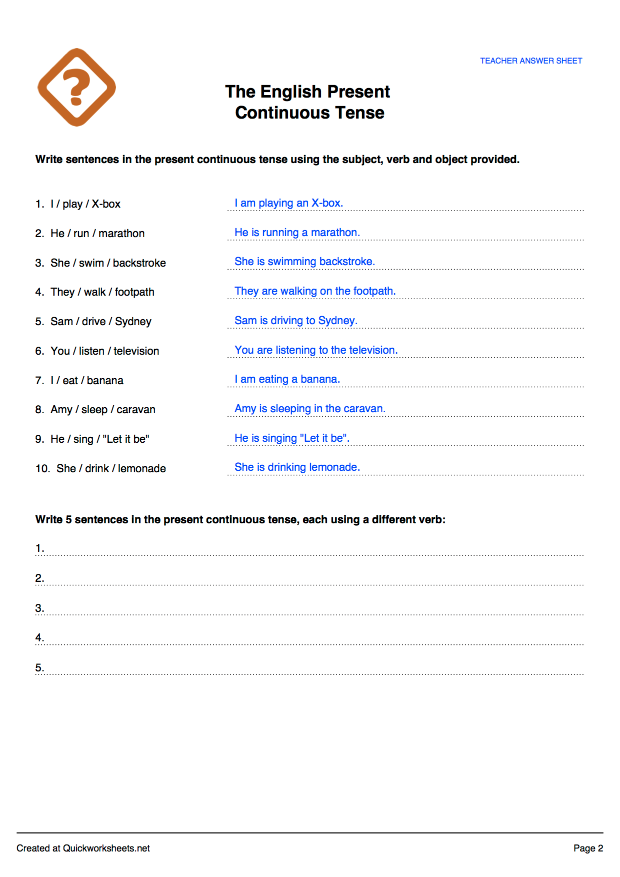 Q Amp A Question And Answer Word Test Worksheet Maker