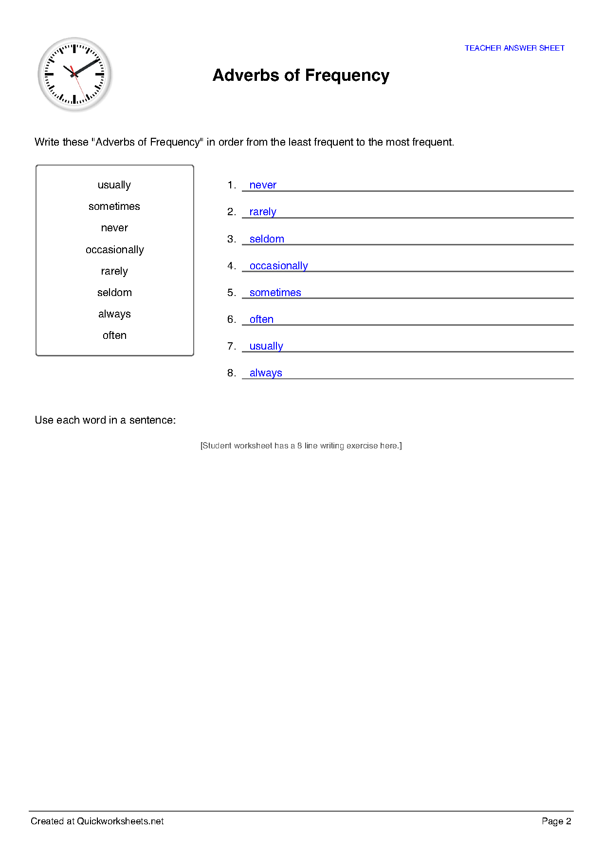 Alphabetical Order Worksheet Generator