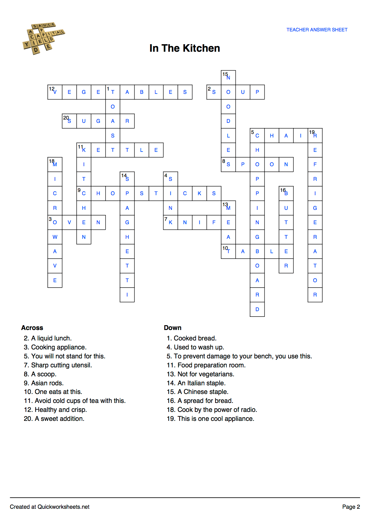 Crossword Puzzle Online Worksheet Maker