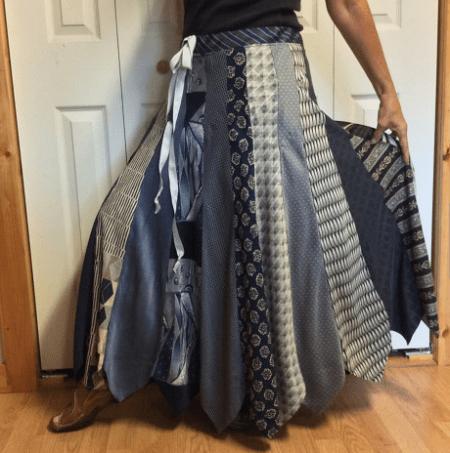 Necktie skirt by Sewsomer on Etsy