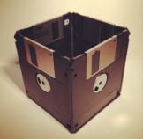 Floppy disk desk tidy by FancyTatCrafts on Etsy