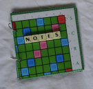 Scrabble board notebook by MooseintheMint on Etsy