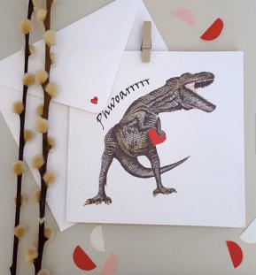 Dinosaur Card by KatieClementDesign