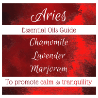 essential oils to promote calm and tranquility in aries