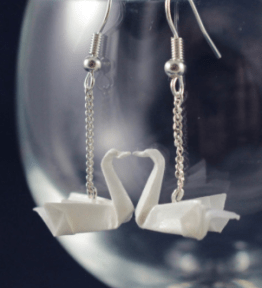 swan earrings by FrenchPaperArt